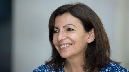 Anne Hidalgo, le 15 juin 2021 à Clermont-Ferrand (Puy-de-Dôme). (RICHARD BRUNEL / MAXPPP)
