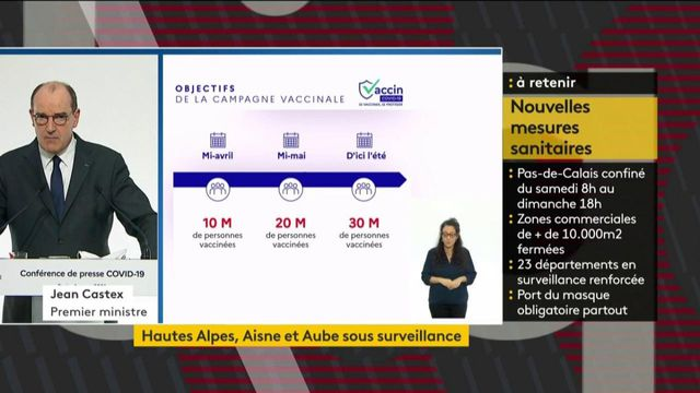 Covid-19: Jean Castex promises that 20 million adults will be vaccinated by mid-May