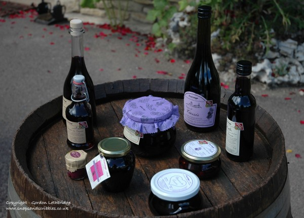 Blackurrant conserves, butter and chutneys along with liqueurs and creme de cassis