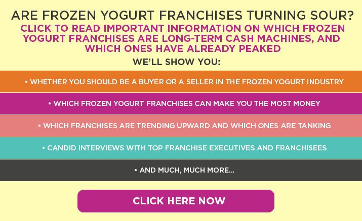 Top Frozen Yogurt Franchises of 2011 Ranked by Top