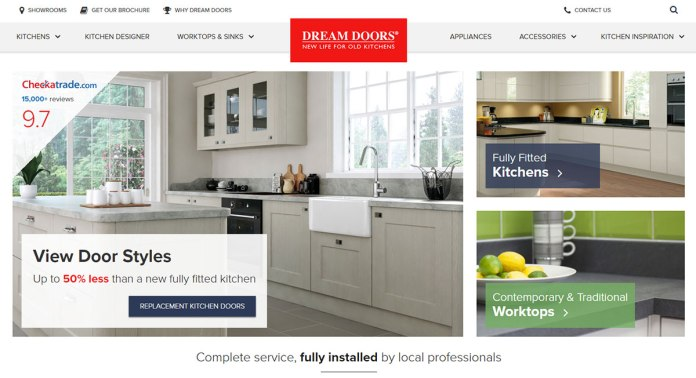 Dream doors website
