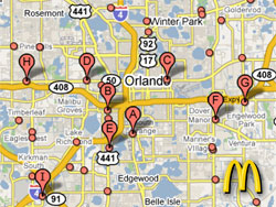 McDonalds franchise units, Orlando
