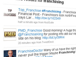 Franchising updates on Twitter