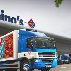 Chair Covers To Buy How Much Reupholster A Domino's Pizza Takes The Road With Striking Livery - Franchise World, Founded In 1978, Is ...