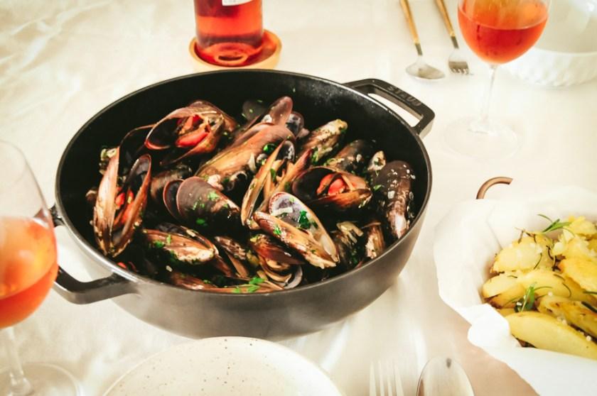 receita mexilhoes ao vinho branco moules mariniere