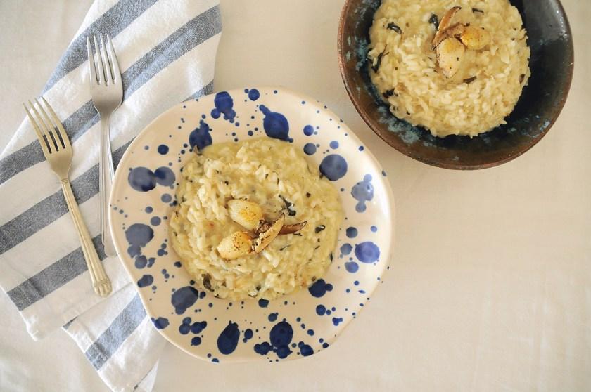 risoto de patinhas de caranguejo com tucupi e jambu