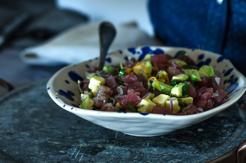 tartar de atum com avocado