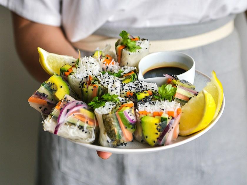 rolinho vietnamita vegano