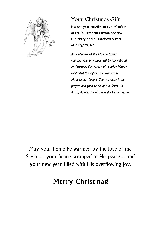 Christmas Annual Enrollment Card (Joy to the World) – St. Elizabeth ...