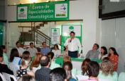 Prefeito Neto fala no evento de inauguração do espaço, nesta sexta-feira