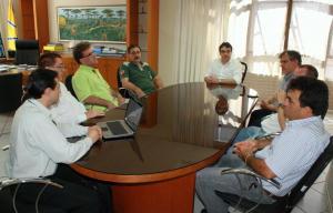 Comitê Gestor da feira esteve reunido esta semana com o prefeito Cantelmo Neto
