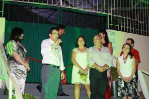 Abertura do espaço foi feita pelo prefeito Cantelmo Neto e pela diretora de Cultura, Soraia Quintana; familiares do homenageado também participaram do evento