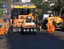 Quatro trechos receberam o recapeamento, feito com recursos próprios da Prefeitura