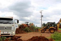 Obras para preparação da avenida Água Branca começaram nesta semana; via pista com 16 metros de largura e ligará o bairro São Cristóvão a PR 483