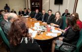 Prefeito Cantelmo Neto e lideranças da região apresentaram o modelo de instalação da Embrapa no Sudoeste à ministra da Agricultura, Kátia Abreu   Foto: Patricia Soransso