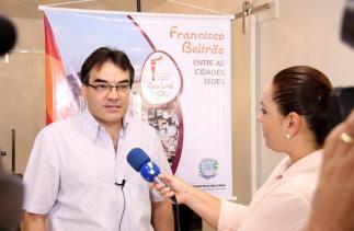 """Prefeito Cantelmo Neto: """"passagem da Tocha Olímpica pelo município contribuirá para destacar o esporte como canalizador da qualidade de vida"""""""