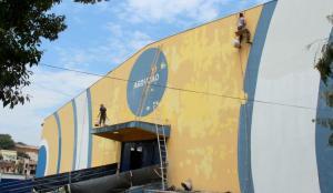 O ginásio Arrudão e todas as outras praças esportivas estão recebendo obras de melhoria para sediar a fase final dos JAPs