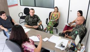 Secretária de Saúde, Rose Guarda, recebeu nesta semana o comando do 16º ECM, um dos parceiros da Prefeitura nas ações