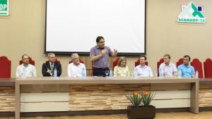 Godinho, Cantarelli, Samek, prefeito Cantelmo Neto, Gleisi, Nilton, Basso e Comunello no evento de assinatura do convênio