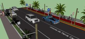 Projeto prevê ainda alargamento da via, calçadas e construção de ciclofaixa