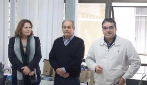 Prefeito Cantelmo Neto e o secretário de Planejamento, Gervásio Kramer, apresentaram a nova diretora, Sônia Faust, à equipe do DIPPM, nesta segunda