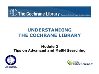 Tips on Advanced and MeSH Searching