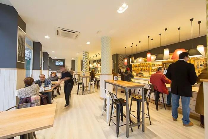 Proyecto de interiorismo para hostelera del Bar La Brjula