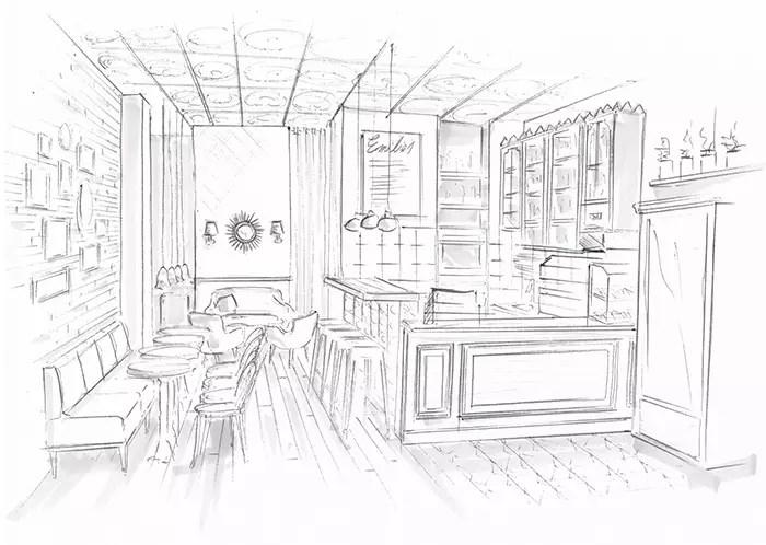 Proyecto interiorismo retro en Emilies CookiesCoffee Shop