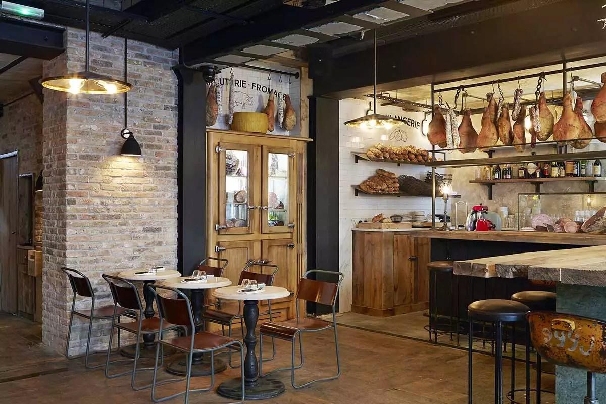 Decoracin industrial para restaurantes italianos