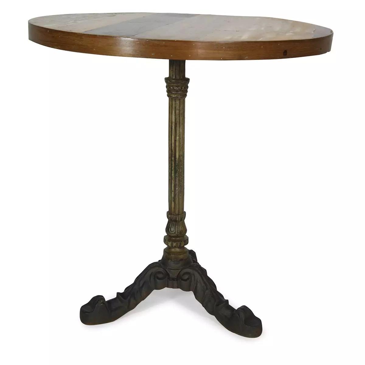table ronde de bar de style parisien