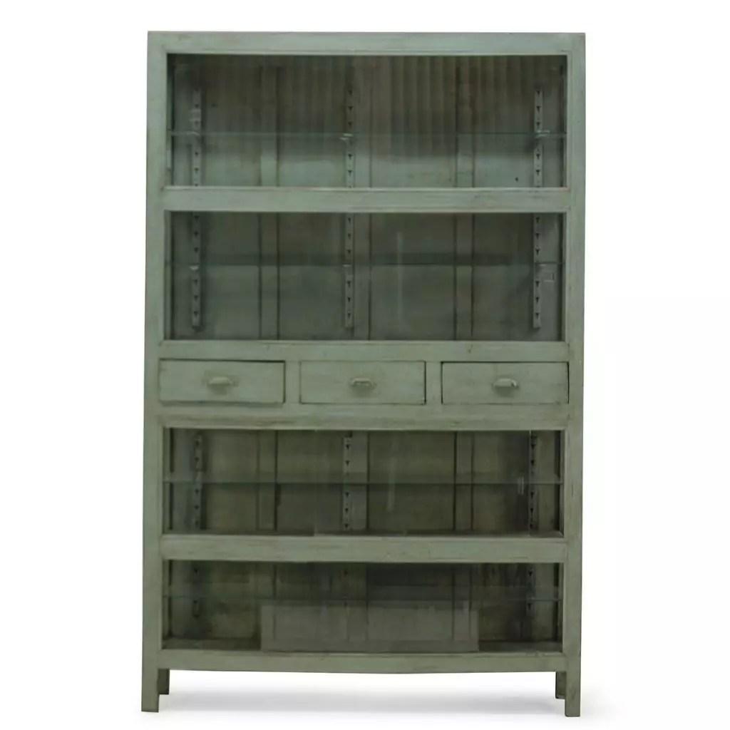 meuble vitrine vintage et industriel