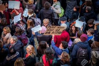 Rassemblement sur la place de la Libération, le jeudi 8 janvier 2015. ©Franckmontauge.fr