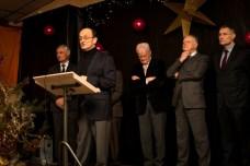 André Sempastous, le maire de Lasseube-Propre, accueille les invités à la cérémonie des voeux de la communauté de communes Val-de-Gers. ©franckmontauge.fr