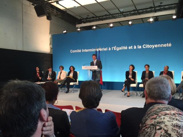 Pendant le discours du Premier ministre Manuel Valls. ©franckmontauge.fr