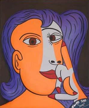 """""""Paloma"""" - Bas-relief sur toile - 65 x 50 - 2002"""
