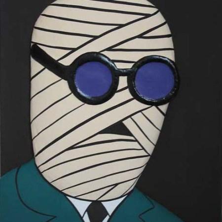 """""""Peter Brady"""" - 65 x 50 - Bas-relief sur toile - 2002"""
