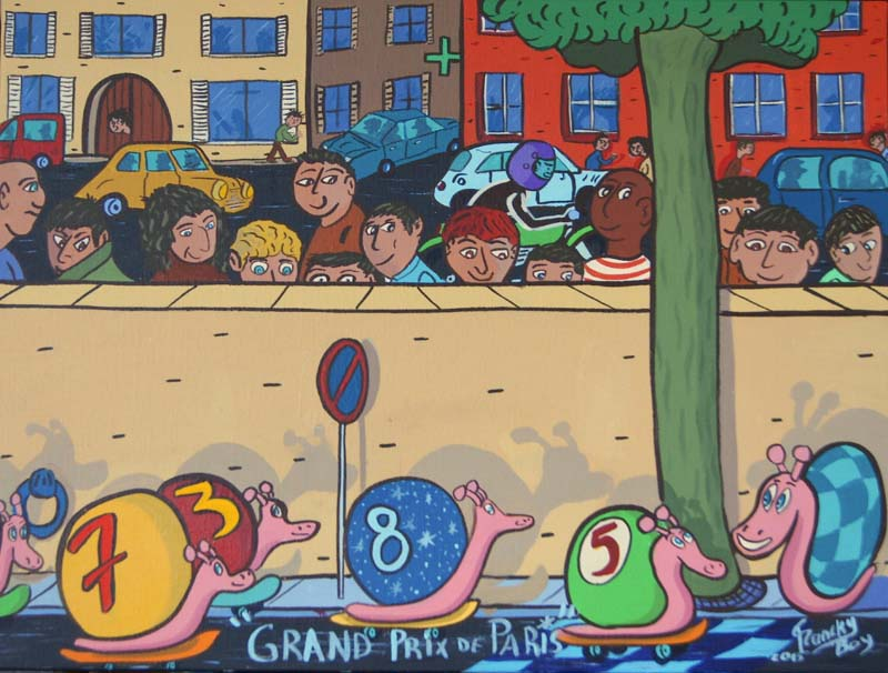 """"""" Grand Prix de Paris """" - 81 cm X 60 cm - Acrylique sur toile - 2015"""