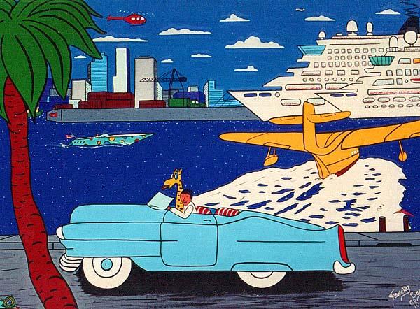 """""""Le Port de Miami"""" - 130 x 97 - 1999 -"""