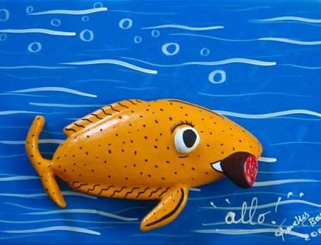 """""""Allo !"""" - 35 x 27 - Bas-relief sur toile - 2003"""