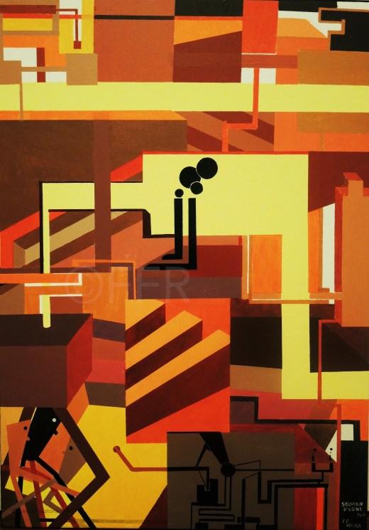 SOUVENIR D'USINE Acrilico su tela, Acrylique sur toile Acrylic 2012