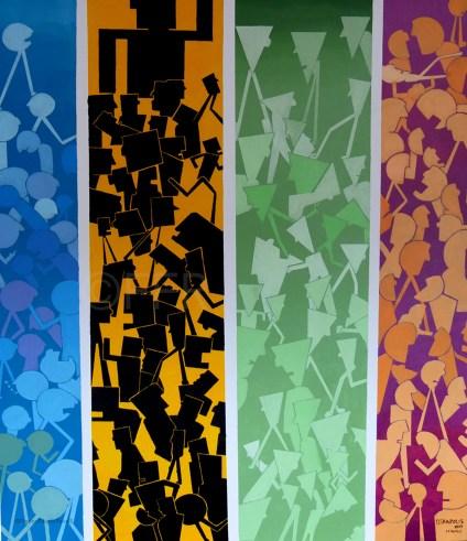 TETRAPOLIS Acrilico su tela, Acrylique sur toile Acrylic 2014