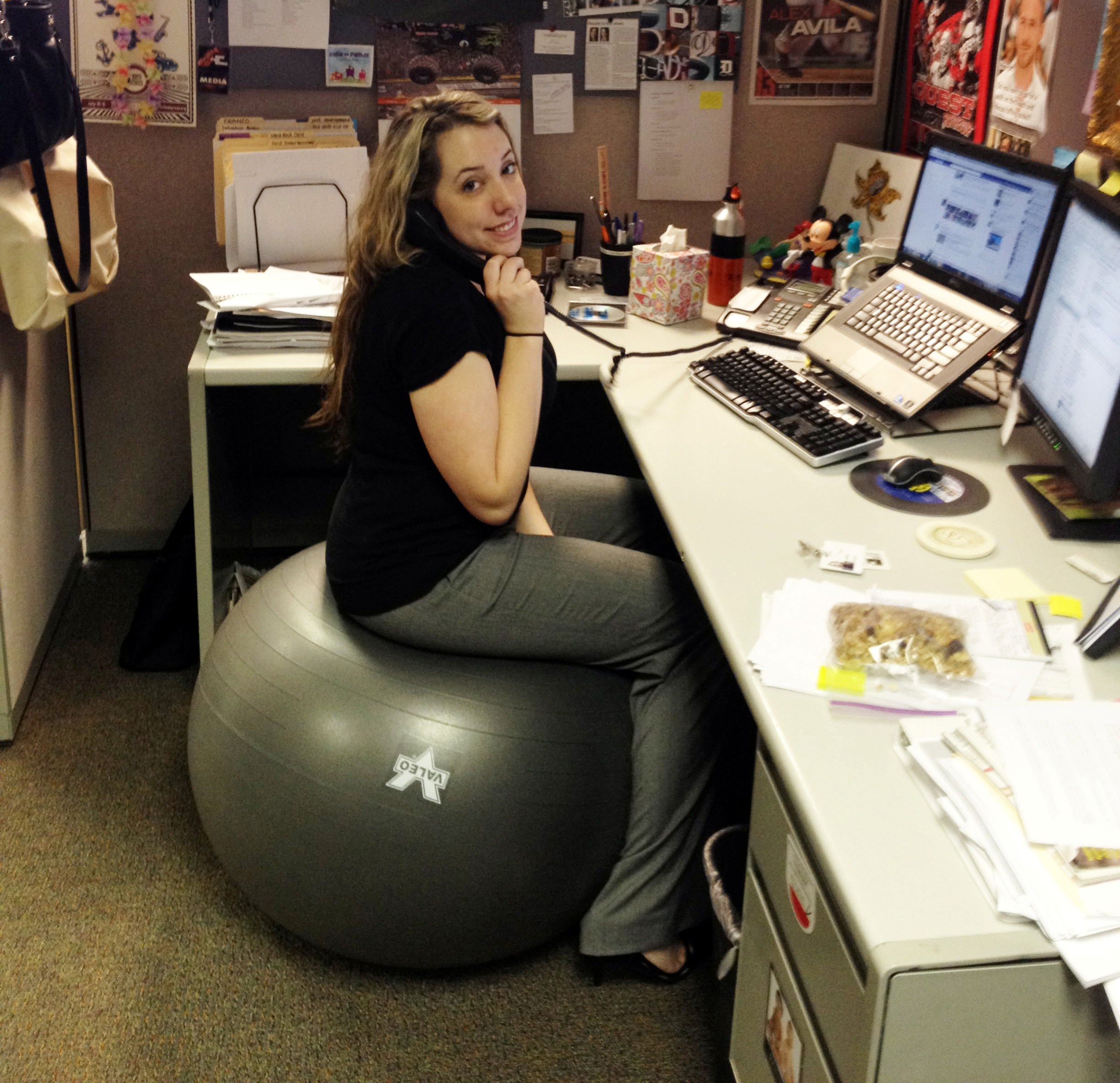 desk chair or exercise ball rustic dining five ways to stay active at the office franco