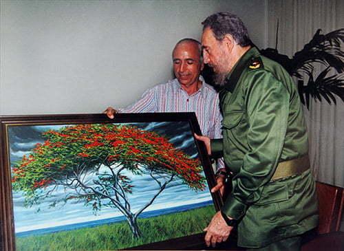 Franco Azzinari e Fidel Castro