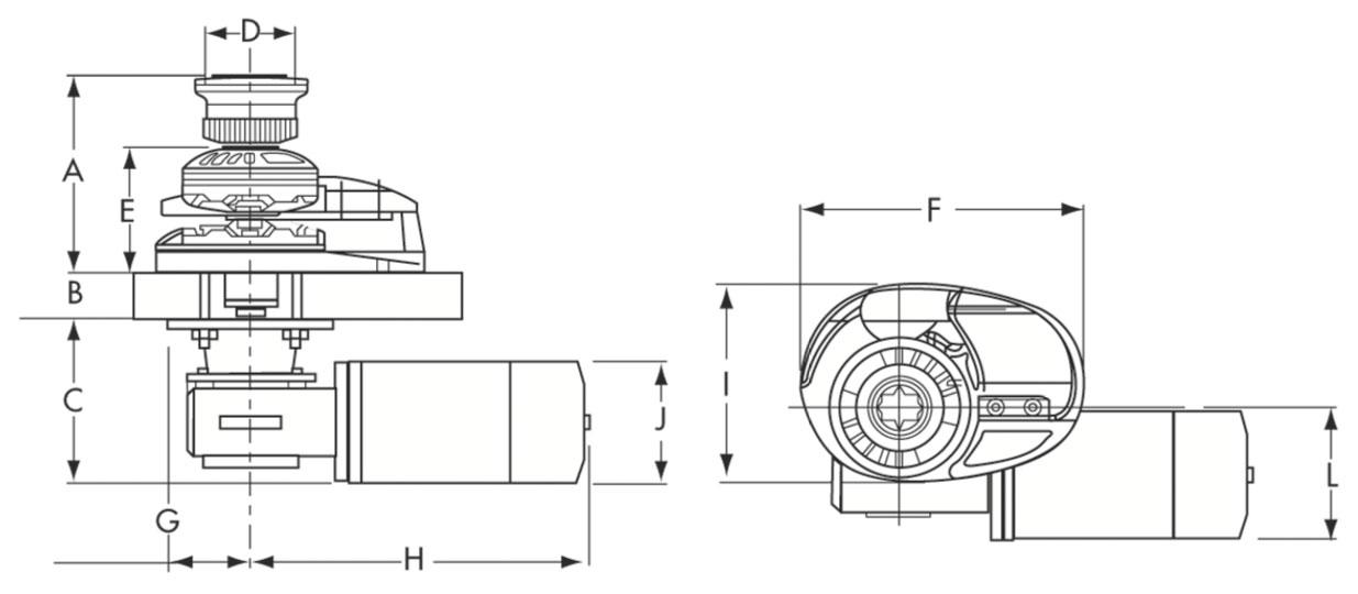 Molinete Lofrans Project X1 500W-Cromado-8mm-Con Campana