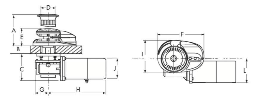 Lofrans Windlass X3 1700 W Aluminium 8mm > Anchor and