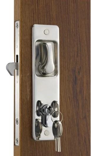 Cerradura puerta corredera manilla con gancho exterior