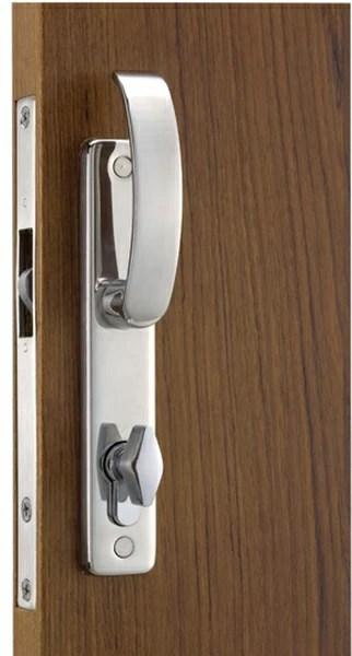 Cerradura puerta corredera manilla contemporary con cierre interior