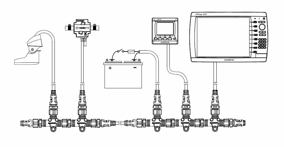 Garmin Conector NMEA 2000 Instalable Macho > Electronica