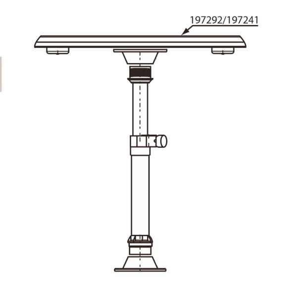 Nuova Rade Tablero para Mesa Ovalada ASA  confort a bordo  mesas y sillas  nautica  mesas