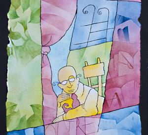 Omino giallo alla finestra
